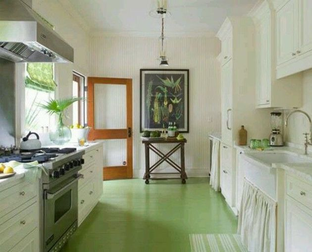 Floor To Ceiling Paint Designs The Interior Collective Painted Kitchen Floors Painted Wood Floors Painted Wooden Floors