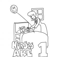 Top 25 Free Printable Nurse Coloring Pages Online in 2020