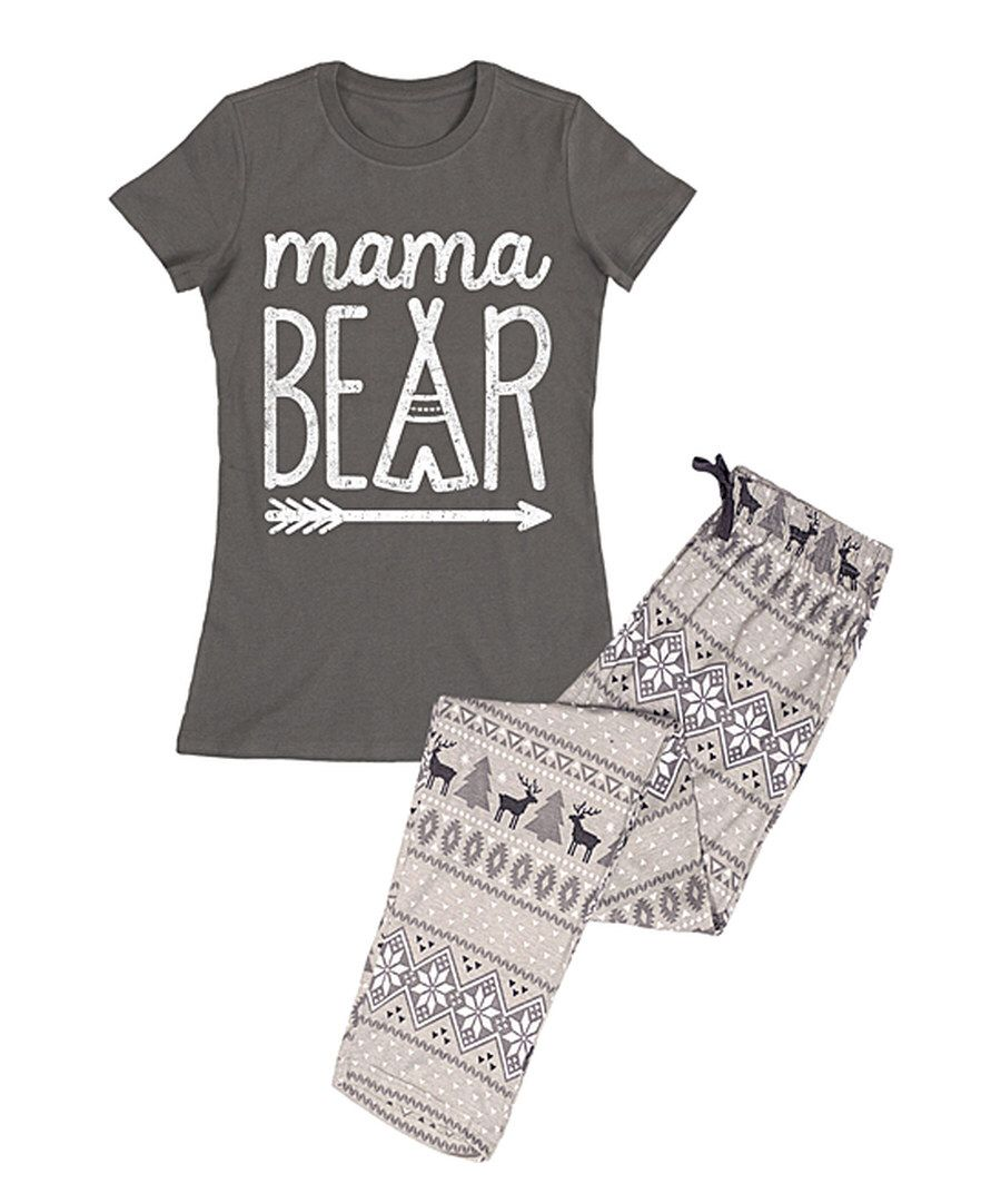 066120789f30 Look at this Charcoal  Mama Bear  Pajama Set - Women on  zulily ...