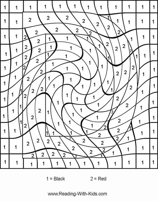 Color By Number Coloring Pages ~ Color-by-letter & color