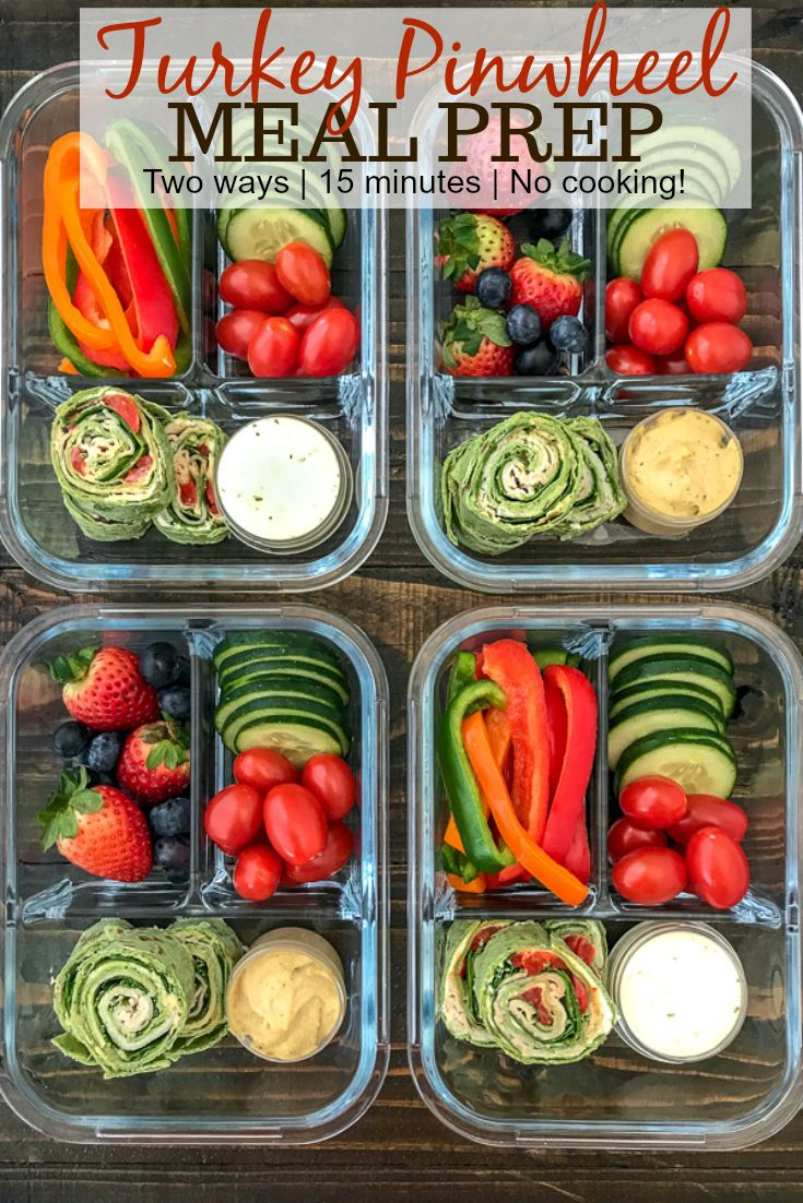 Turkey Pinwheel Meal Prep images