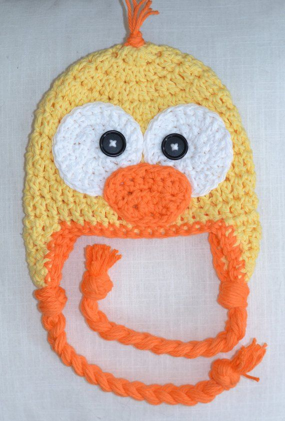 54d6904be Baby hat, duck hat, crochet duck hat, baby hat, crochet baby hat ...