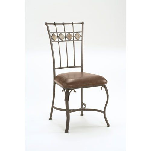 Hillsdale Lakeview Dining Chairs, Slate And Metal Finish