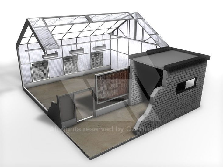 3d Hvac Graphic Development Heating And Cooling Design Graphic