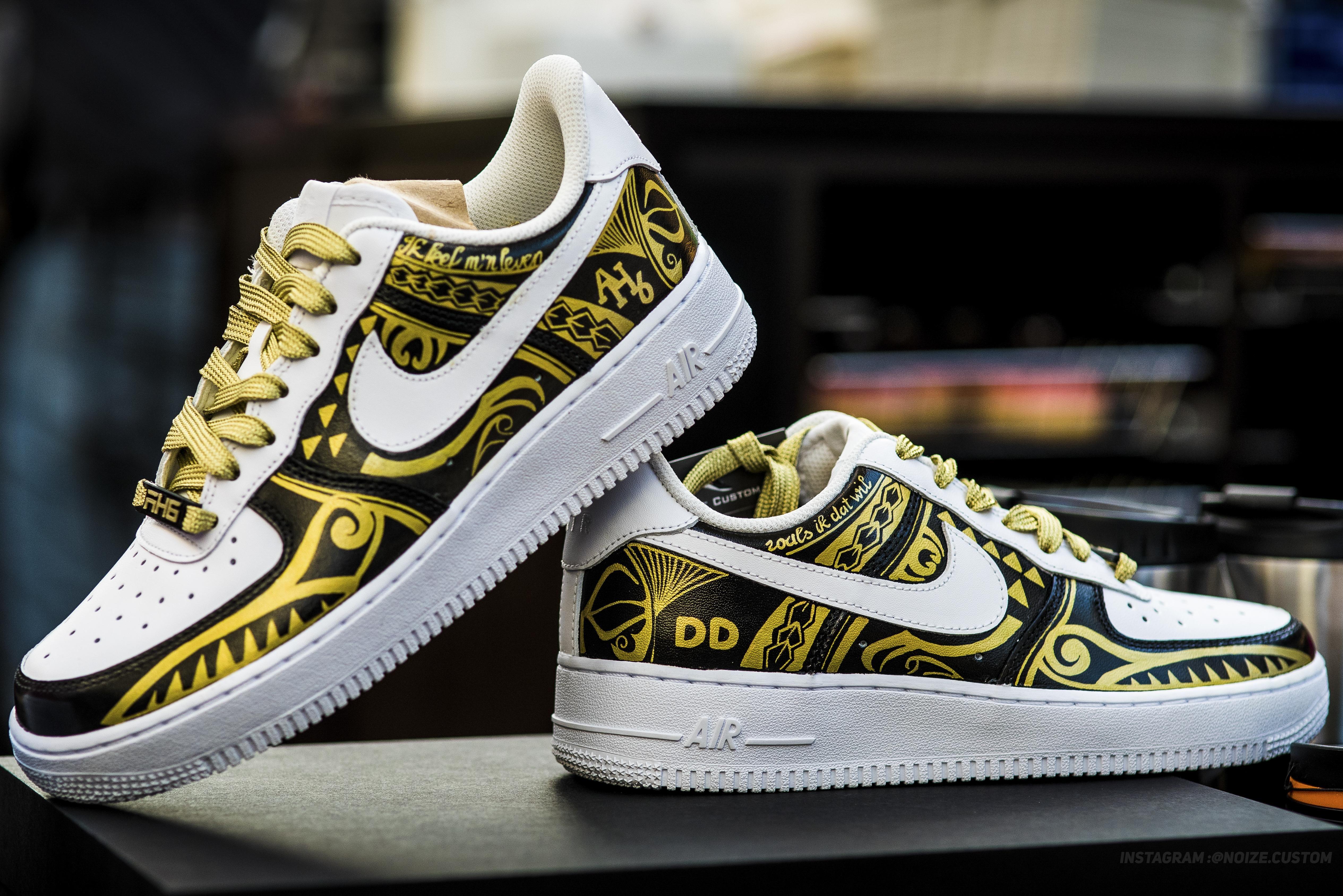 [ART] I Made some custom Nike Air Force 1 sneakers What