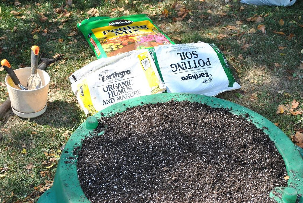 Using Soil In Gardens Difference Between Topsoil And Potting Soil