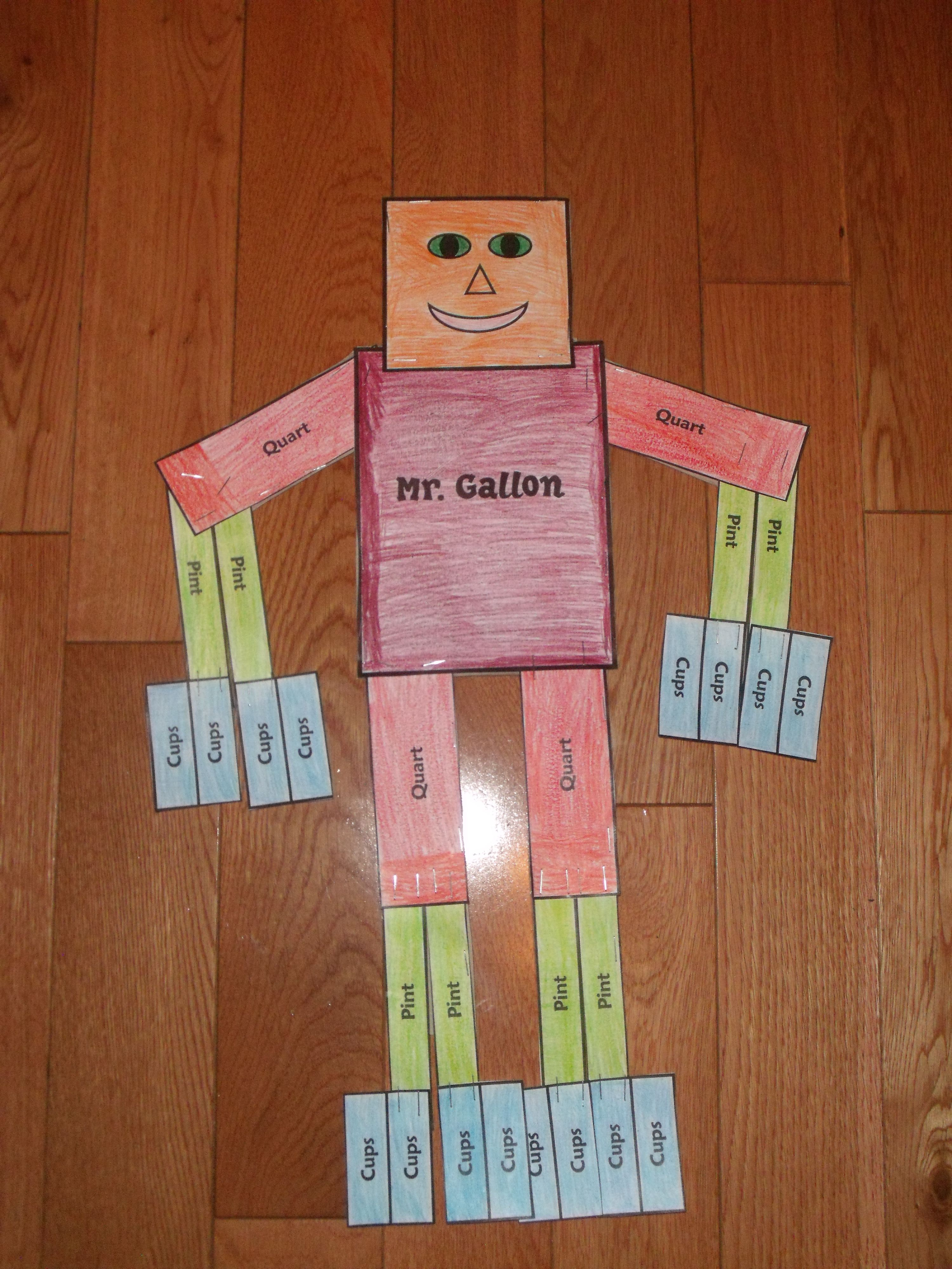 Mr Gallon Man I Made This For My Son When He Was In 1st