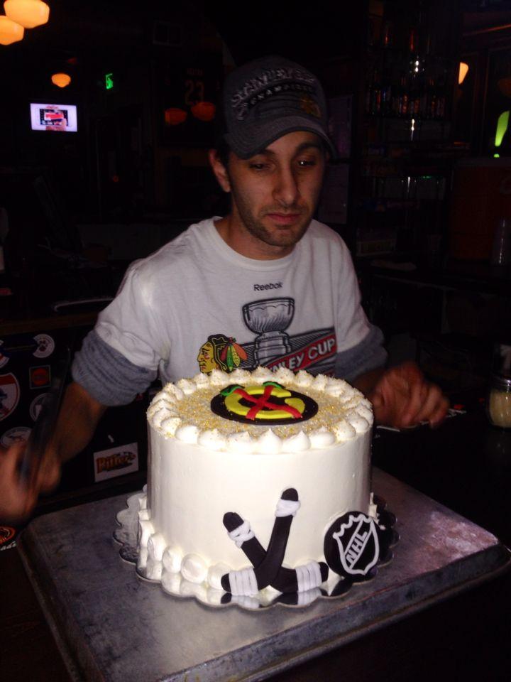 Chicago Blackhawks cake!