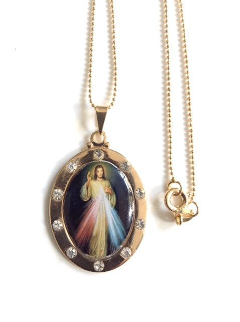 Divine mercy medal necklace divine jesus mercy gold oval pendant divine mercy medal necklace divine jesus mercy gold oval pendant cristian jewelry catholic gifts religious aloadofball Gallery