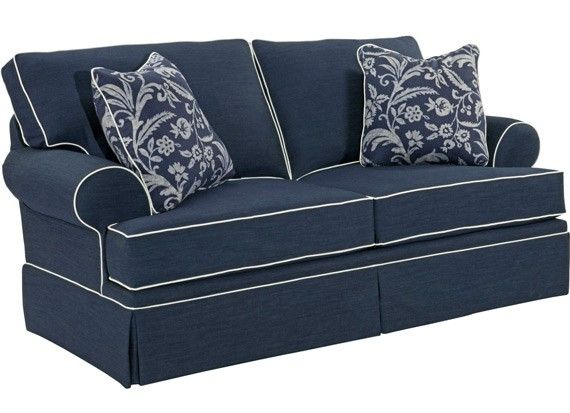 Broyhill Furniture Emily Woven Fabric Loveseat Bro
