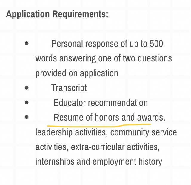 DebtFreeDegree Tip The requirement of a \u201ccollege resume\u201d is very