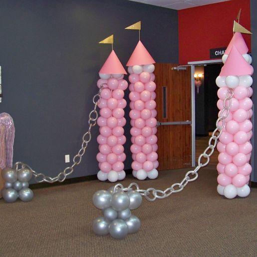 Balloon Castle Columns Entrance Decor Ballon Gala Idee
