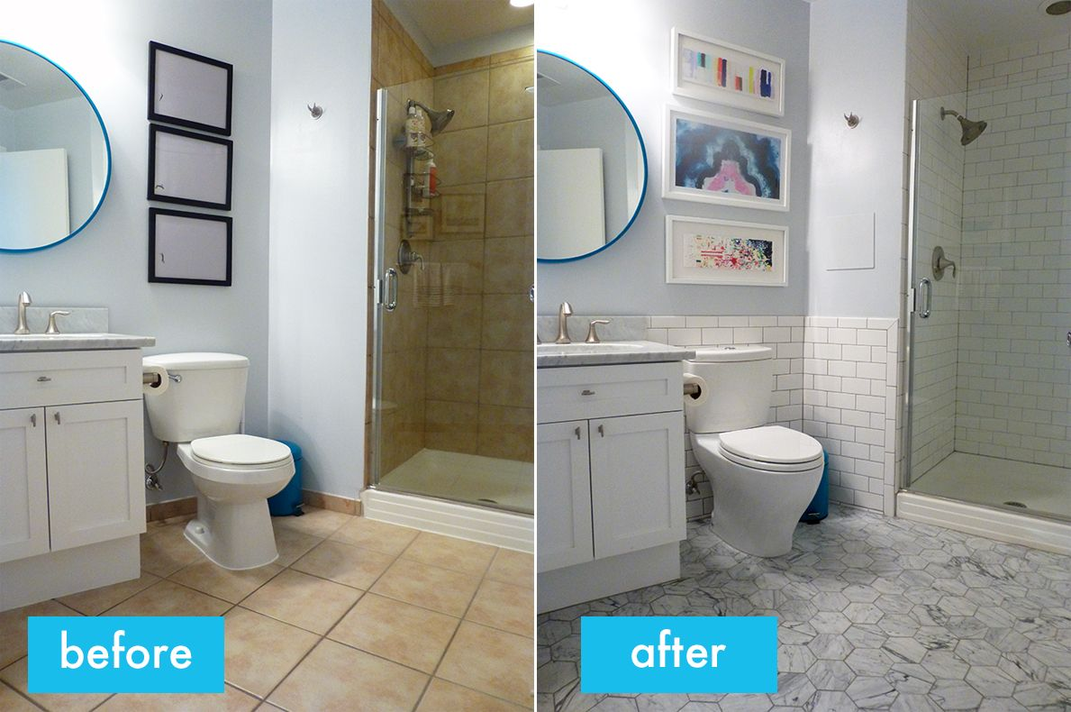 Image Result For Bathroom Retile Before And After Small Bathroom