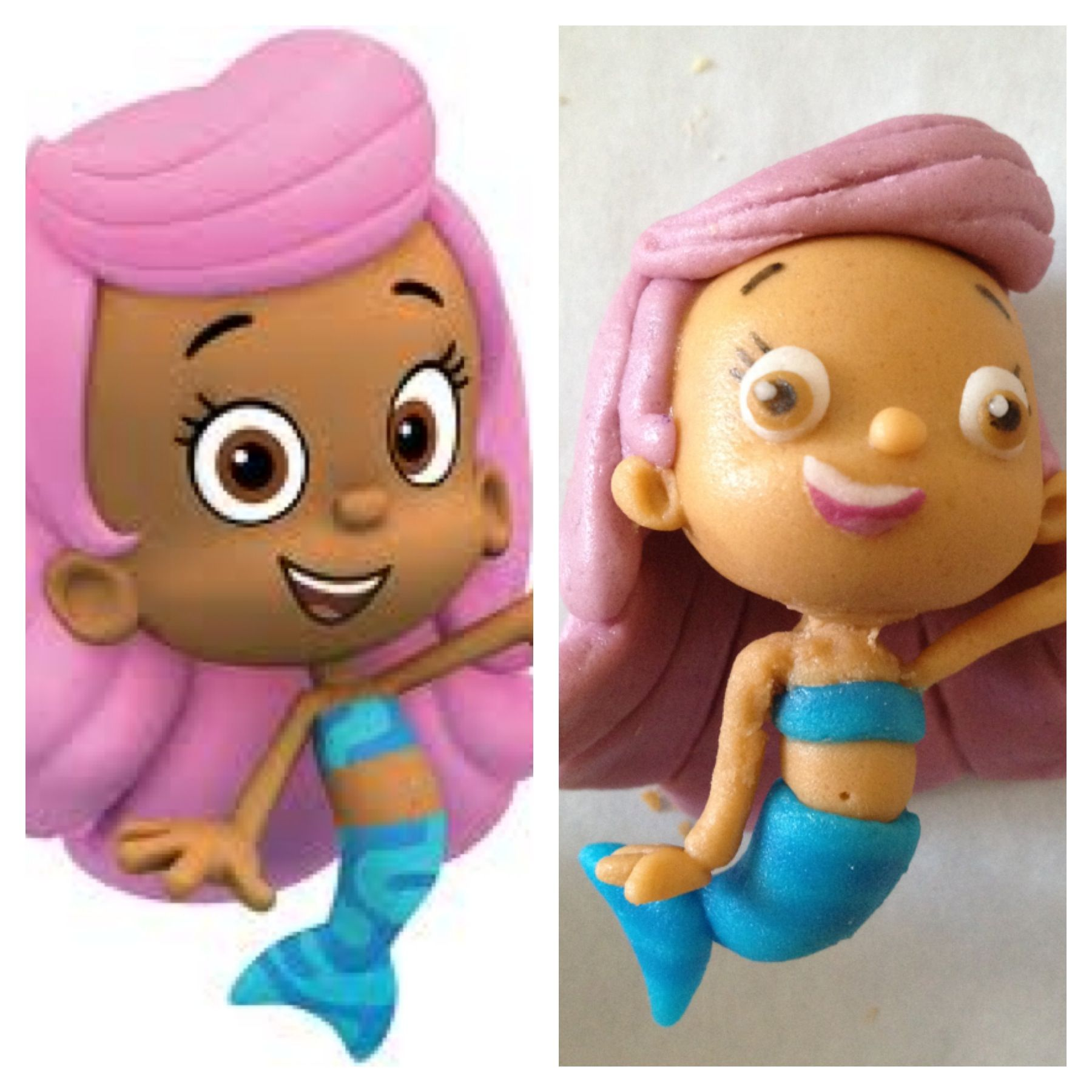 Fondant Molly from Bubble Guppies. | FABOLE CAKE TOPPERS | Pinterest