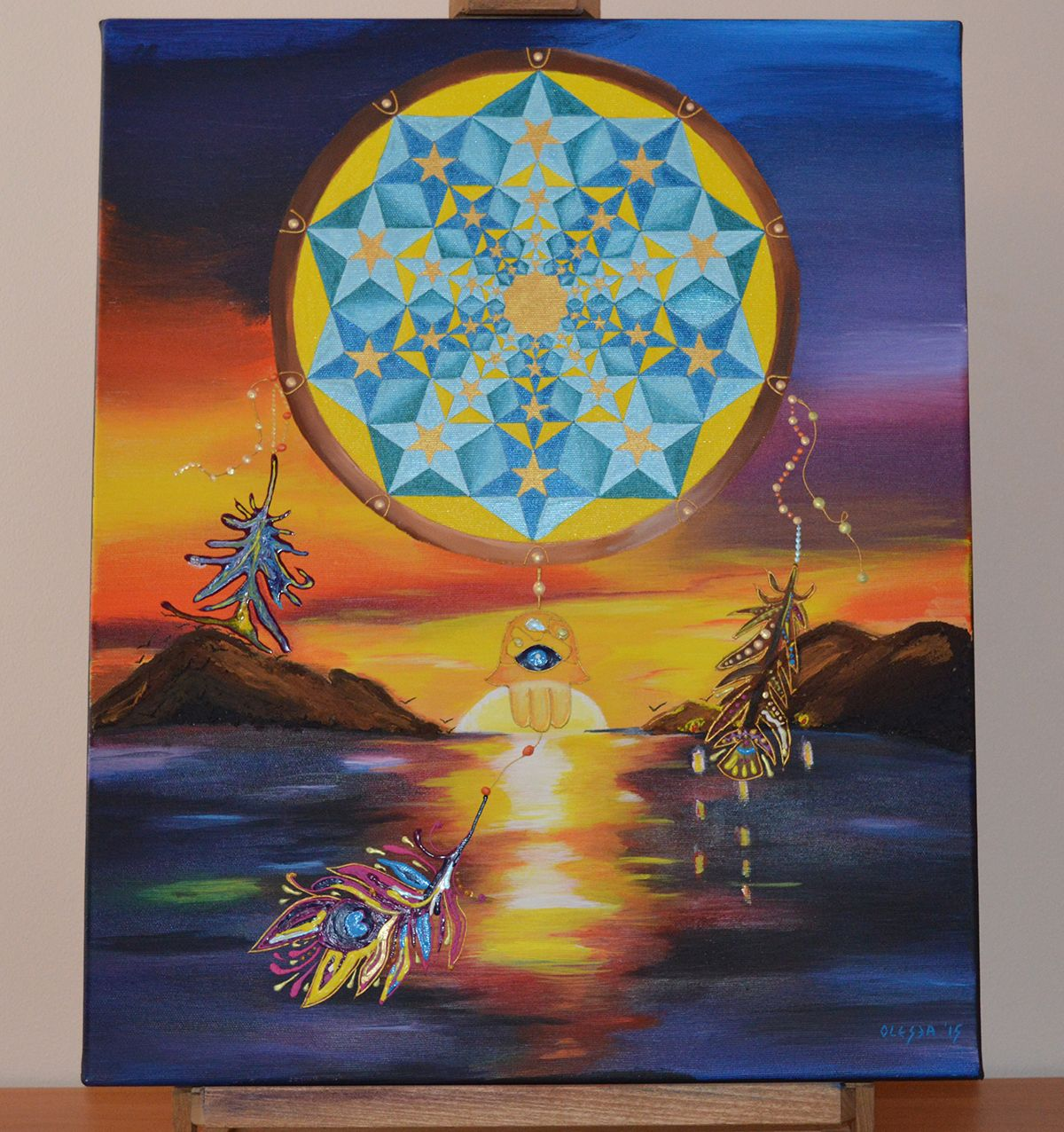 Dream Catcher painting acrylic on canvas