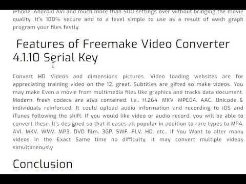 freemake video converter serial 4.1.10