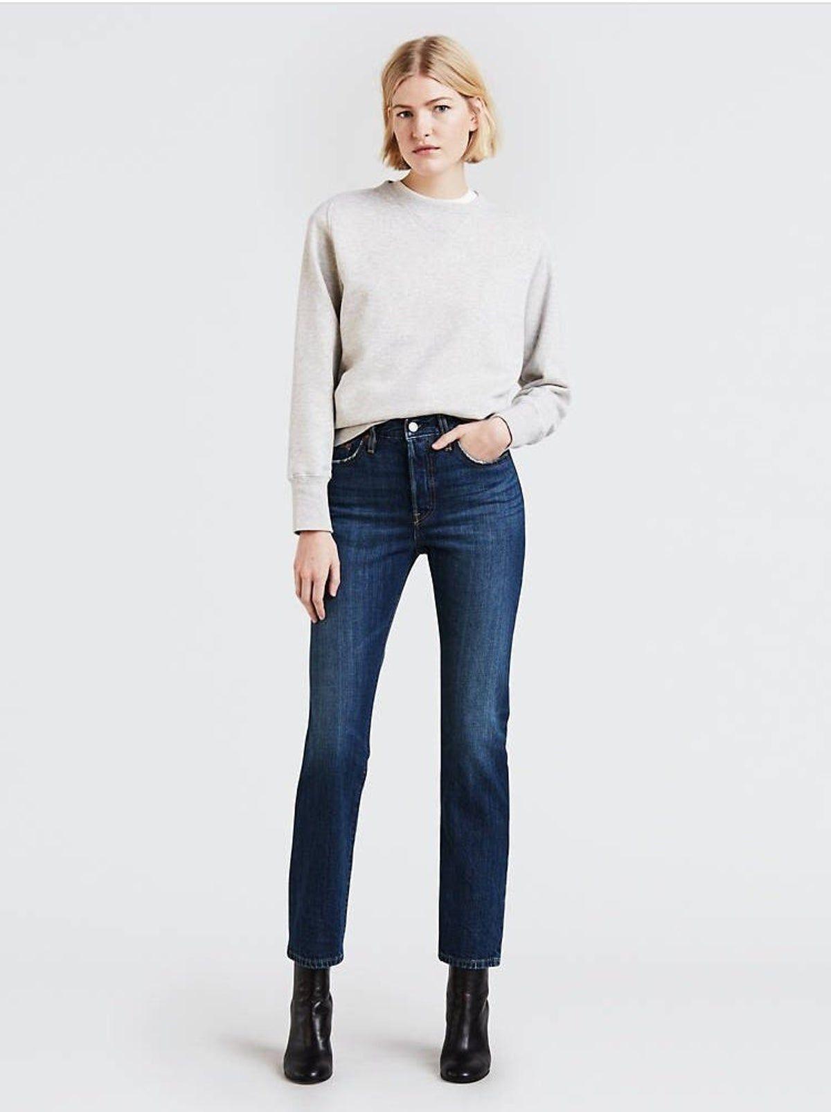 Levi S 501 Original Fit Jeans Side 28 Women Shirt Top Women Jeans Long Sleeve Tees Women Levi's women's ribcage straight ankle jeans at amazon women's jeans store. pinterest