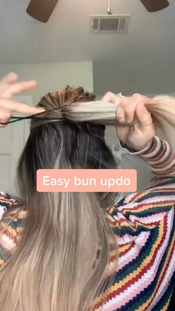 EASY BUN UPDO -   17 easy hair Tips ideas
