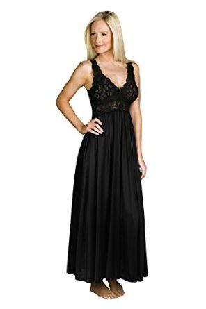 9818aad846 Shadowline Women s Silhouette 53 Inch Sleeveless Long Gown at Amazon  Women s Clothing store