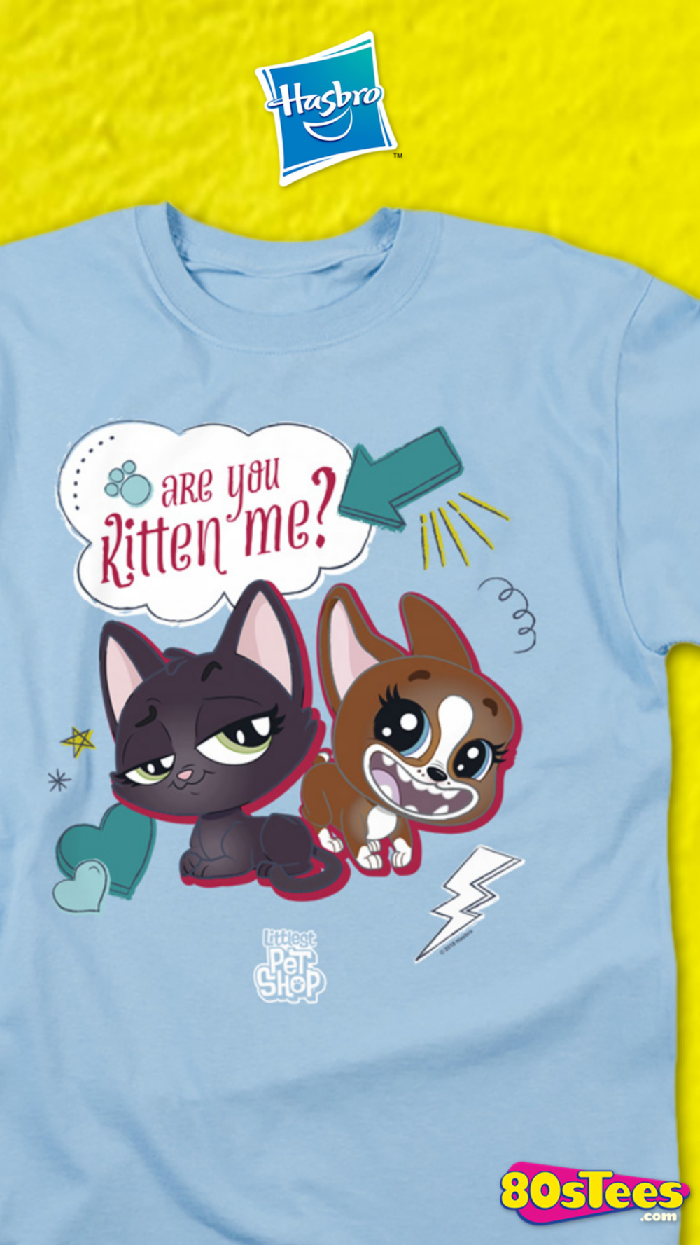 This Littlest Pet Shop T Shirt Features Jade Catkin And Roxie Mcterrier With The Phrase Are You Kitten Me The Toy Li Littlest Pet Shop Little Pets Pet Shop