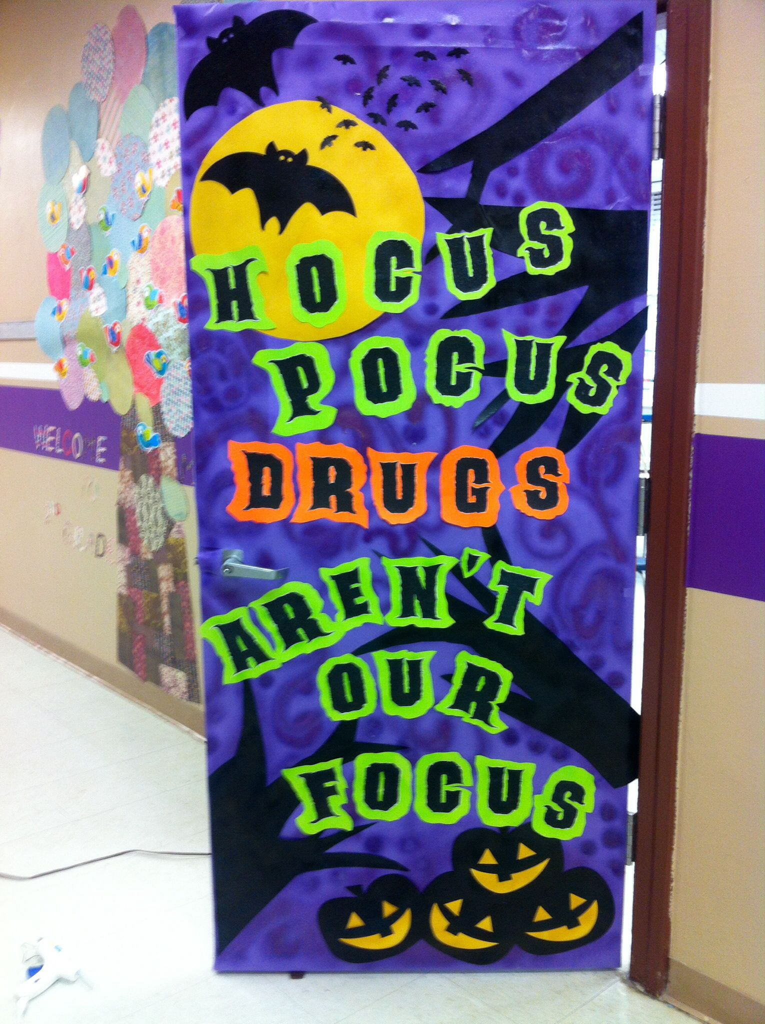 Red Ribbon Week Door Decoration With Images Red Ribbon Week