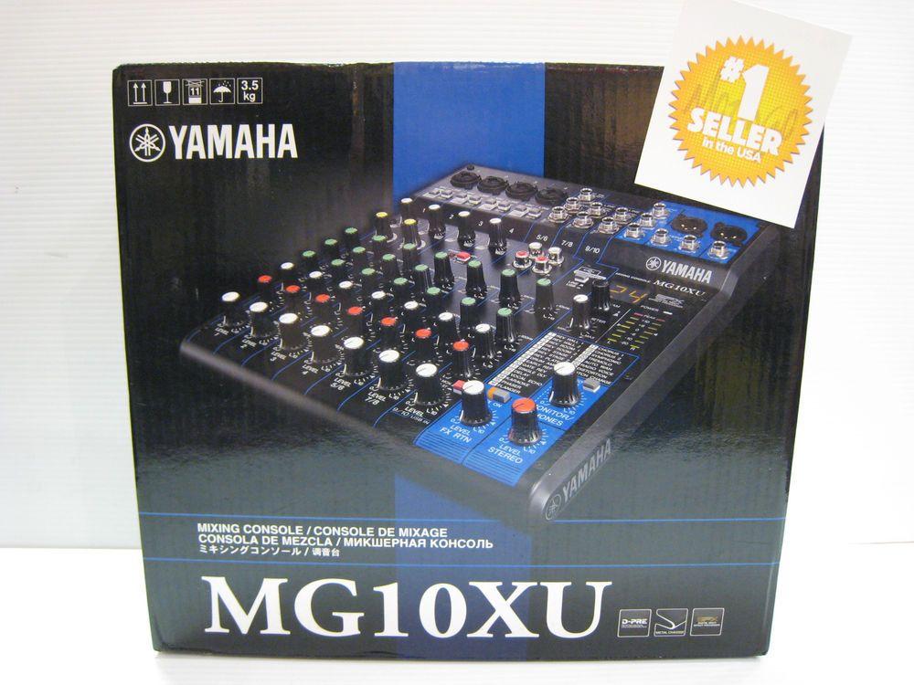 yamaha mg10xu. yamaha mg10xu 10-channel mixer with effects brand new in box mixing mg10xu 0