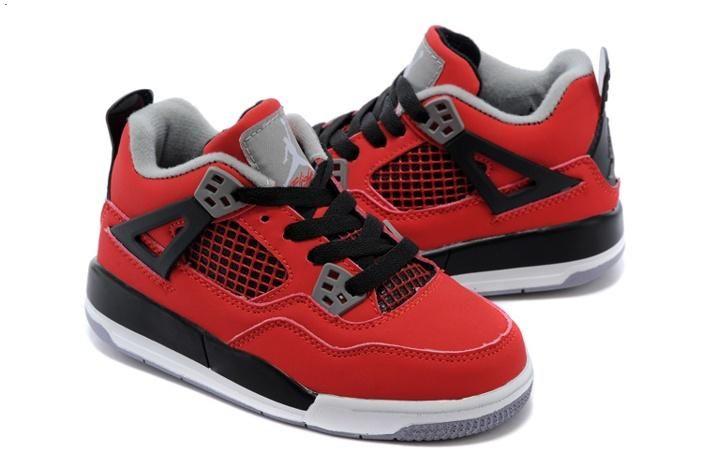 40650e98e8d01e Nike Air Jordan IV 4 Retro Kids Shoes Red Black White 04 4