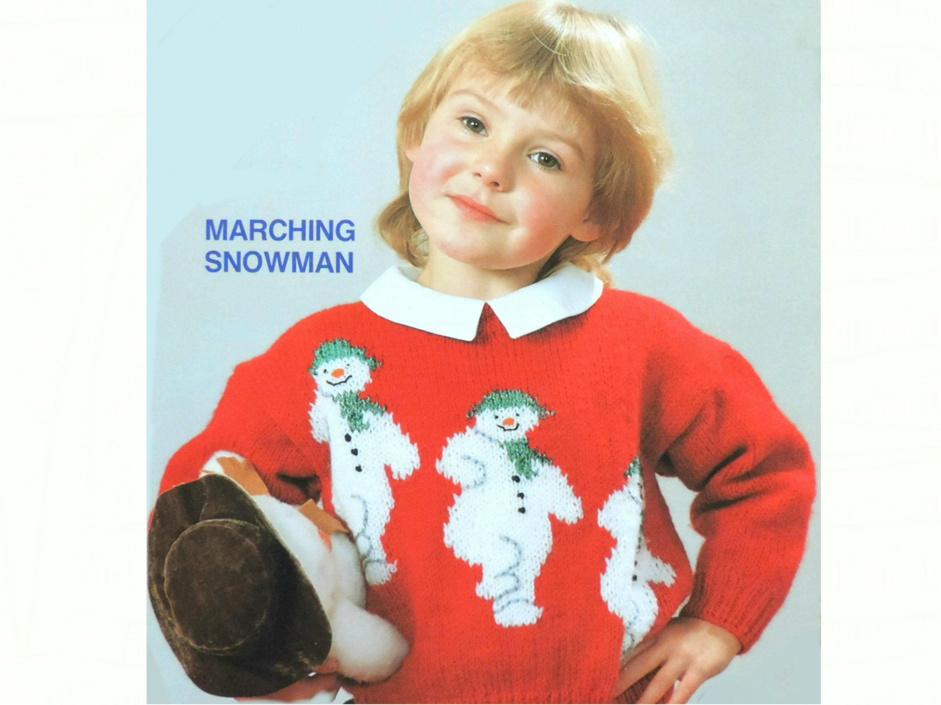 Toddlers & Childrens Marching Snowman Sweater, Knitting ...