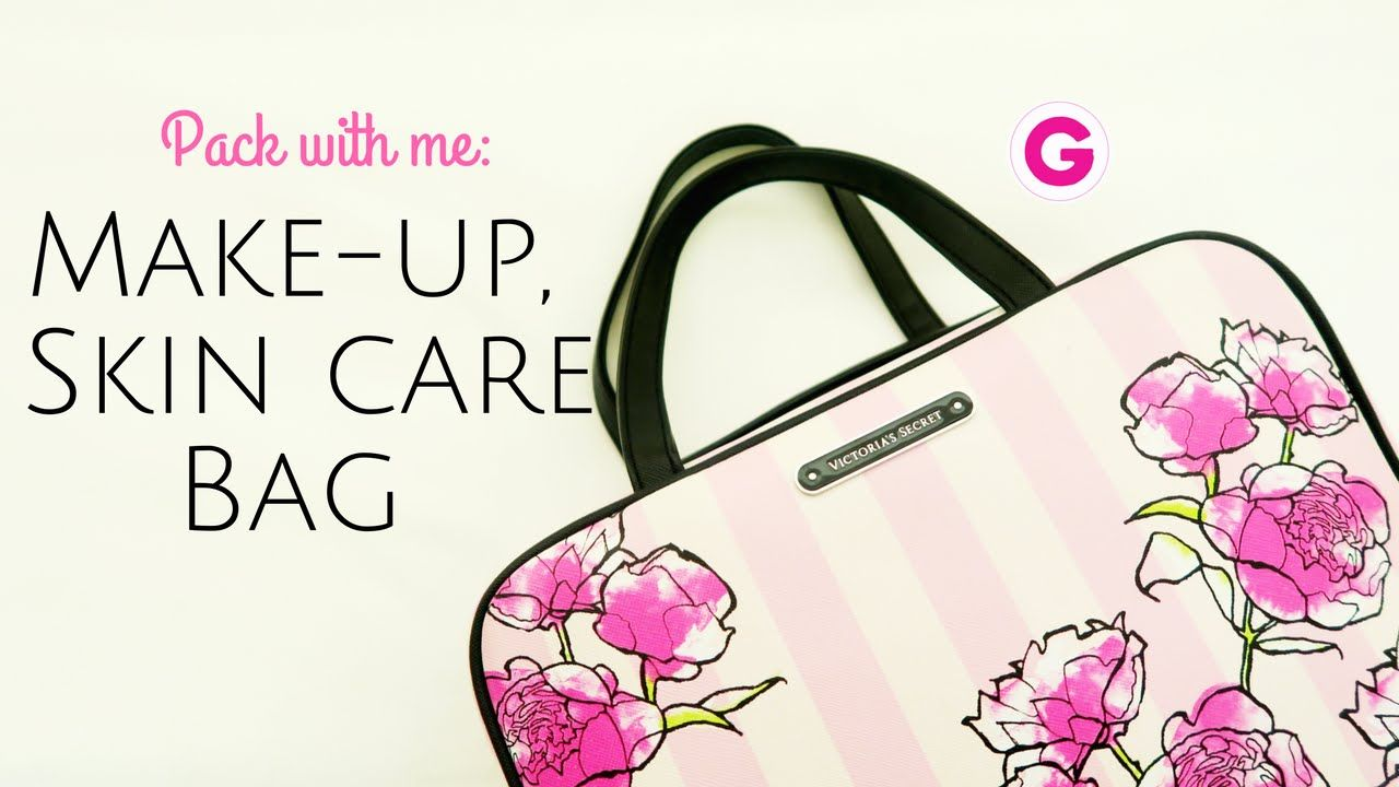 Pack With Me Travel Make Up Skin Care Bag تجهيزات السفر Gege S Life Youtube Bags Skin Care How To Make