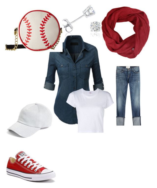 """""""Weekend Outfit"""" by direyna on Polyvore featuring Current/Elliott, Converse, Amanda Rose Collection, Betsey Johnson and rag & bone"""