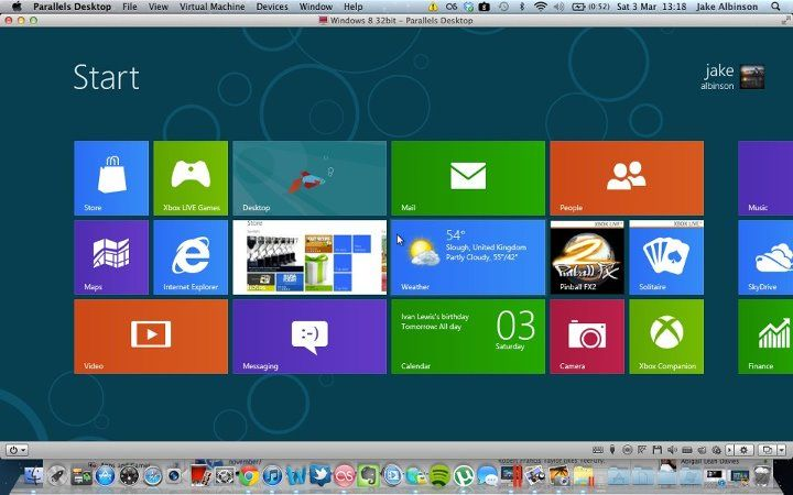 Fun fact 5 in parallels desktop 7 you have instant access