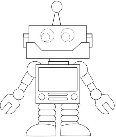 Ausmalbild Karrikatur Roboter Kategorien Roboter Kostenlose