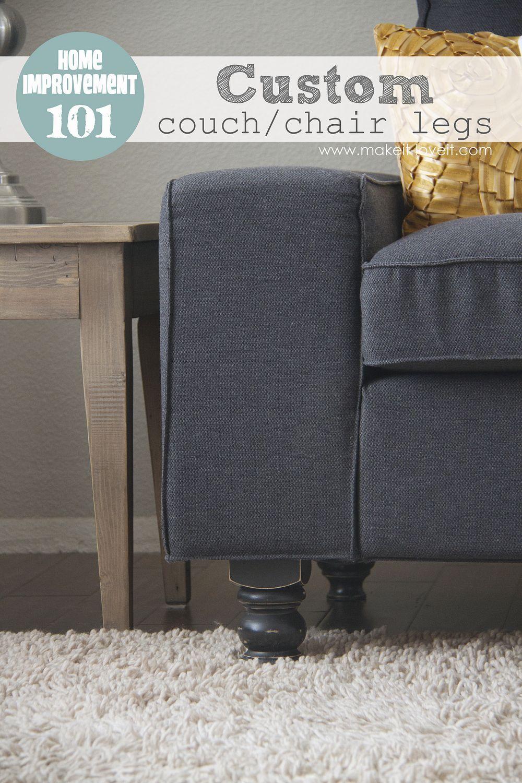 Home Improvement Custom Couch Or Arm Chair Legs Custom