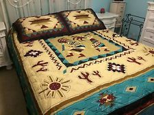 Kokopelli Southwestern Geometric Pattern Cactus Native Quilt Set ... : kokopelli quilt pattern - Adamdwight.com