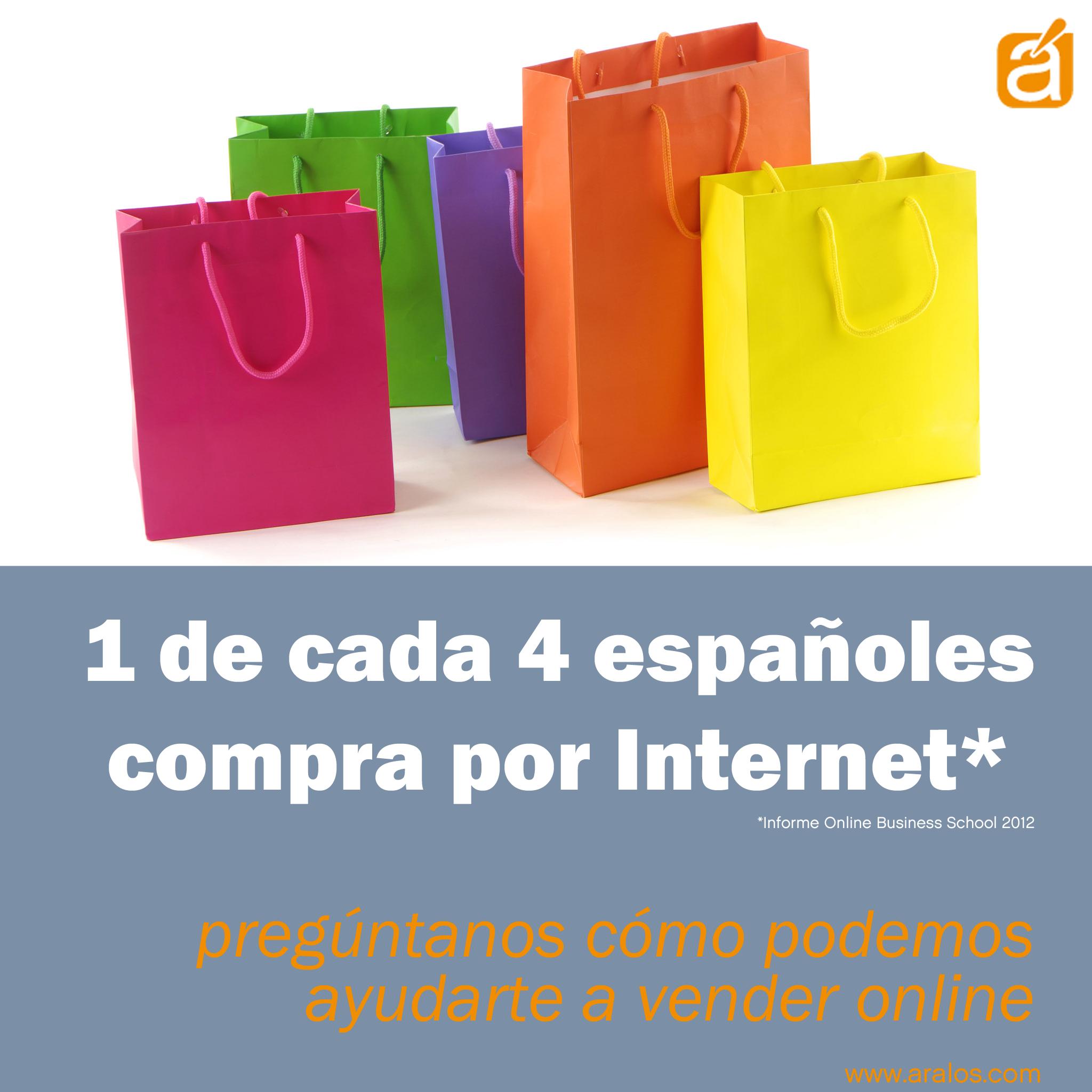1 de cada 4 españoles compra por Internet