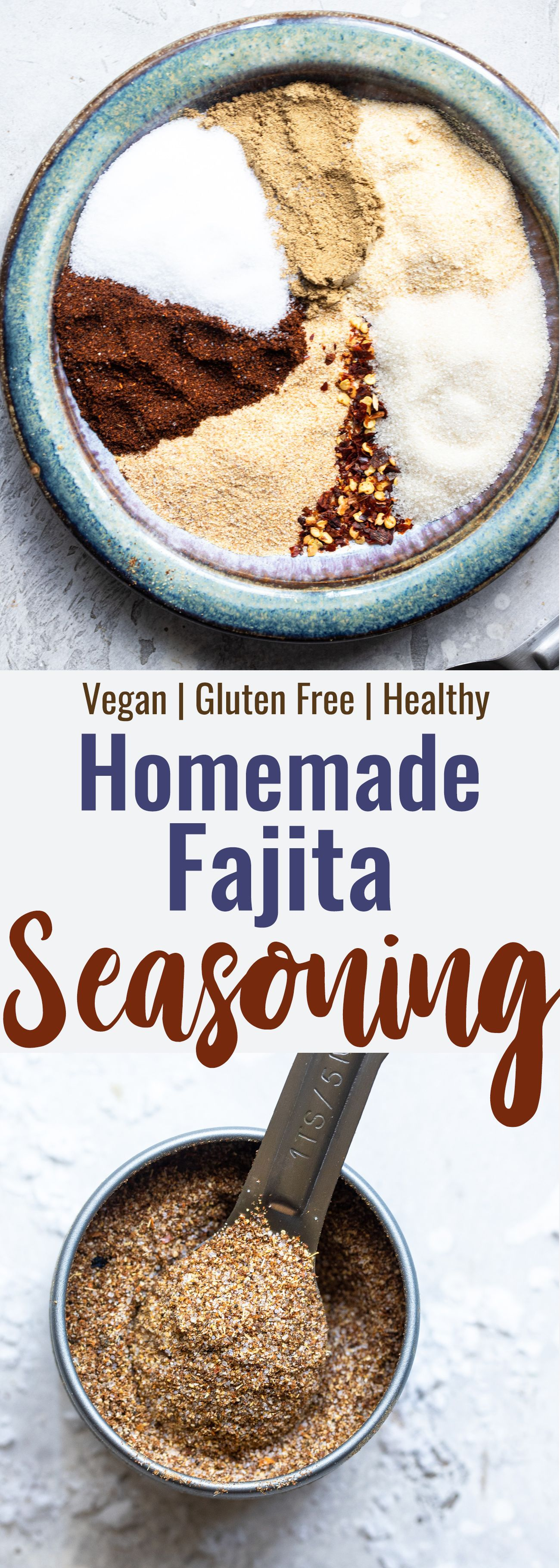 Easy Homemade Fajita Seasoning Recipe - This will be your new go-to! Made with simple ingredients, gluten free, vegan and better and healthier than store bought! | #Foodfaithfitness | #Vegan #glutenfree #healthy #dairyfree #mexican #homemadefajitaseasoning Easy Homemade Fajita Seasoning Recipe - This will be your new go-to! Made with simple ingredients, gluten free, vegan and better and healthier than store bought! | #Foodfaithfitness | #Vegan #glutenfree #healthy #dairyfree #mexican #homemadefajitaseasoning