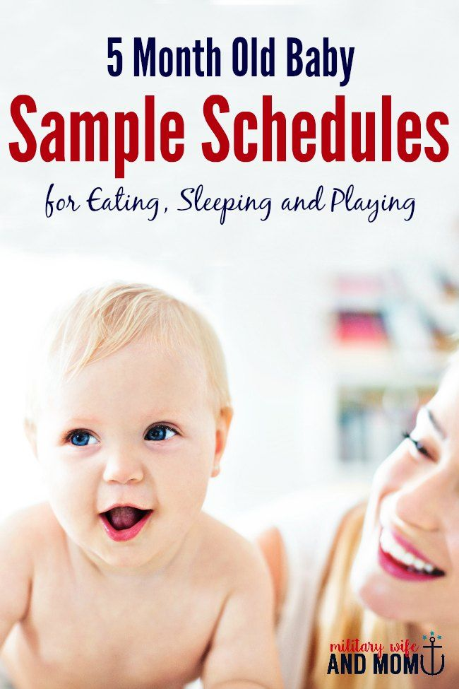 5 Month Old Sample Routine for Busy Moms Routine, Babies and Parents - sample schedules - sample schedule