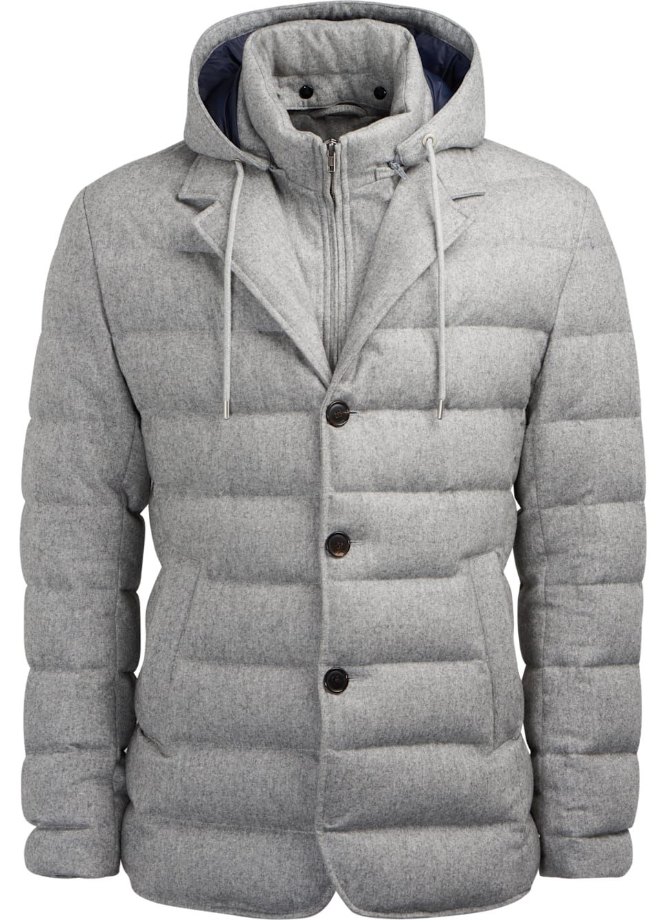 9a1a6f68657 Light Grey Down Jacket J642i | Suitsupply Online Store | Colin ...