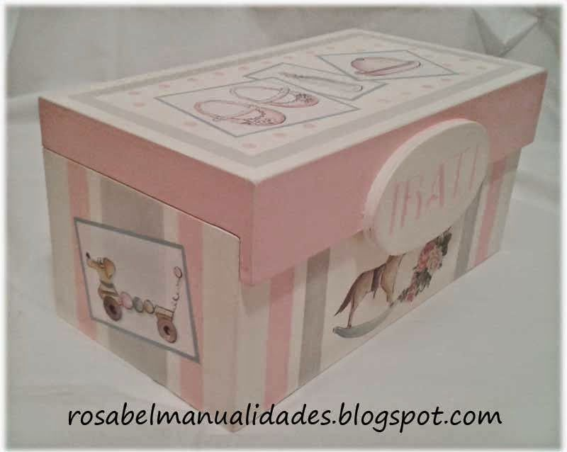 Cajas decoradas con decoupage artesania decorative - Cajas decoradas para bebes ...