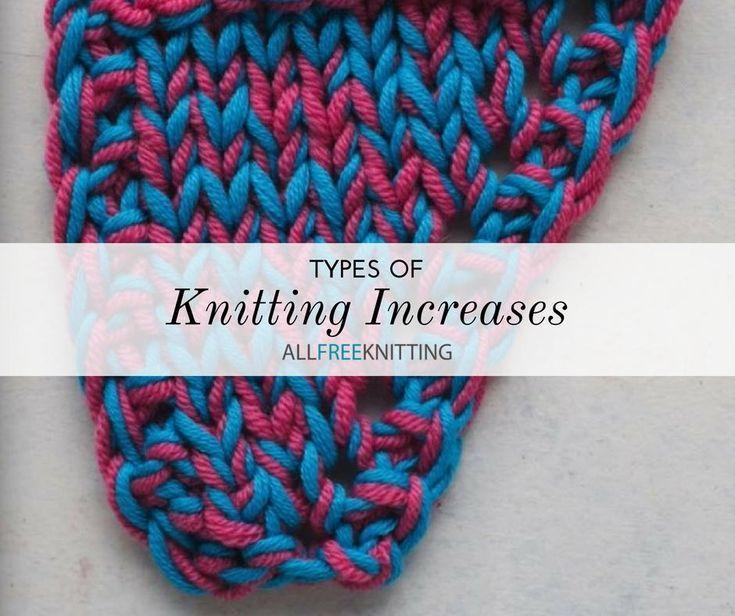 Knitting Techniques knitting increase methods