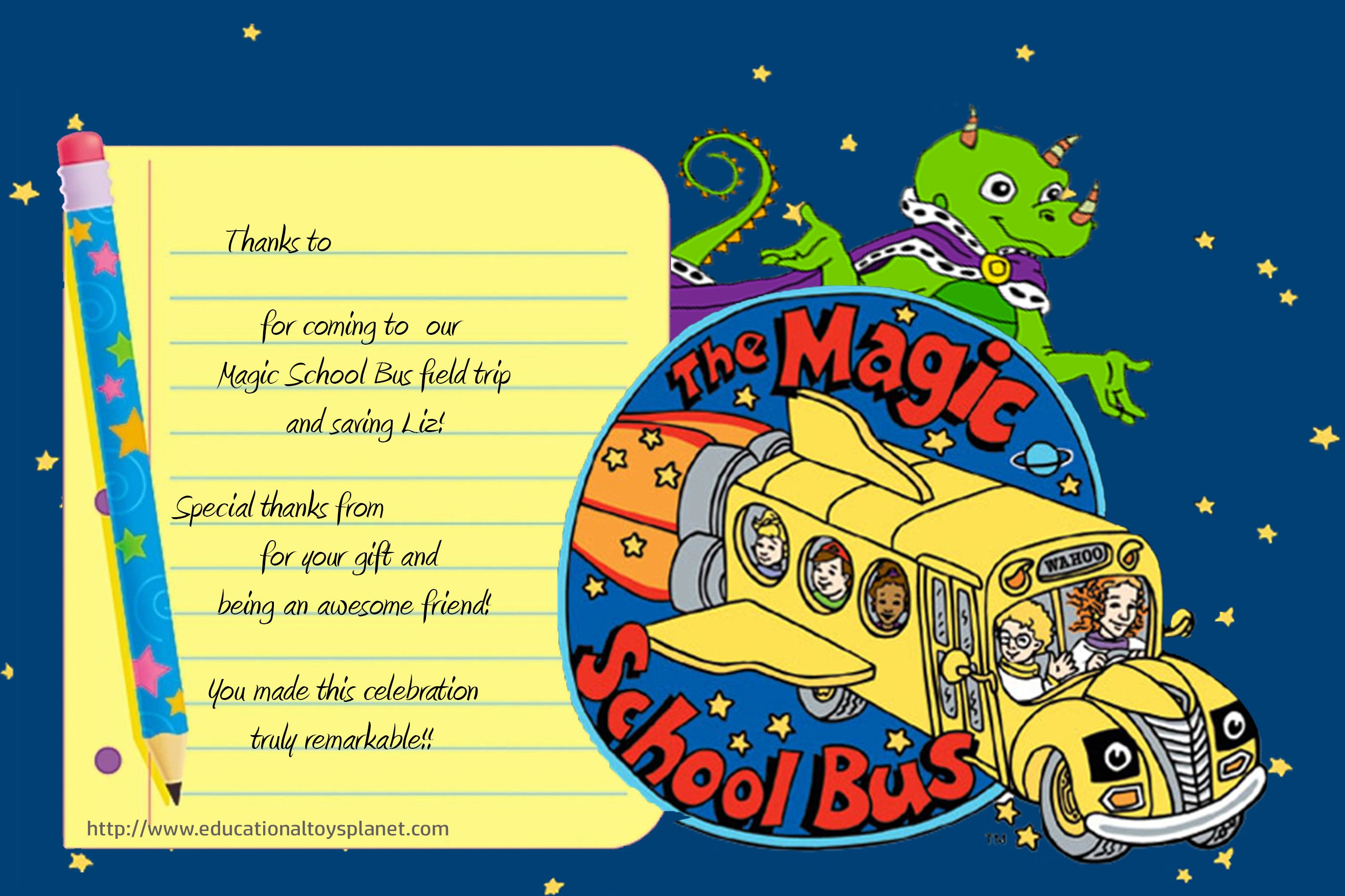 The Magic School Bus theme birthday party. Preparation