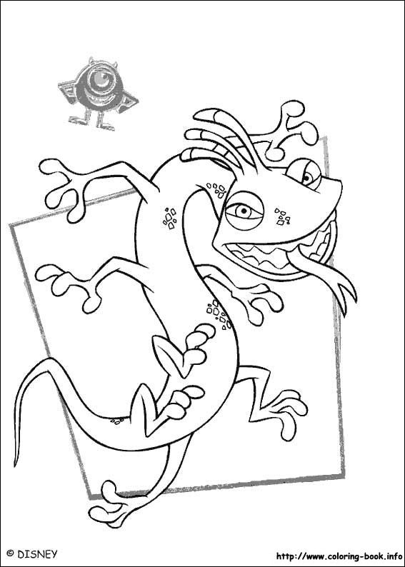 Monsters, inc. coloring picture | Things to do with the baby ...