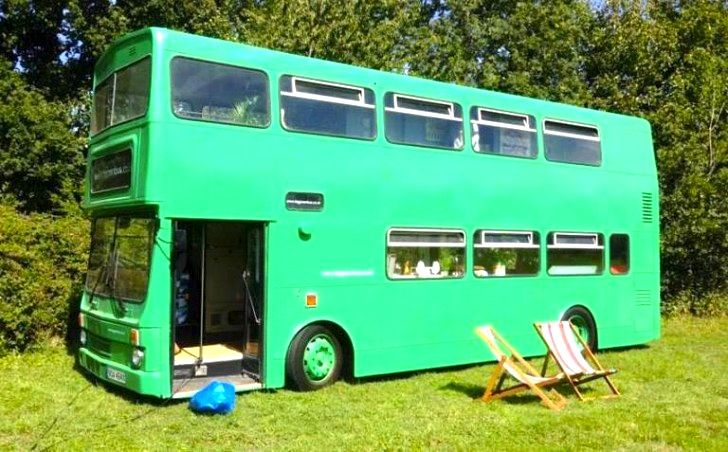 The Big Green Bus Is A Retired City Bus Renovated Into A