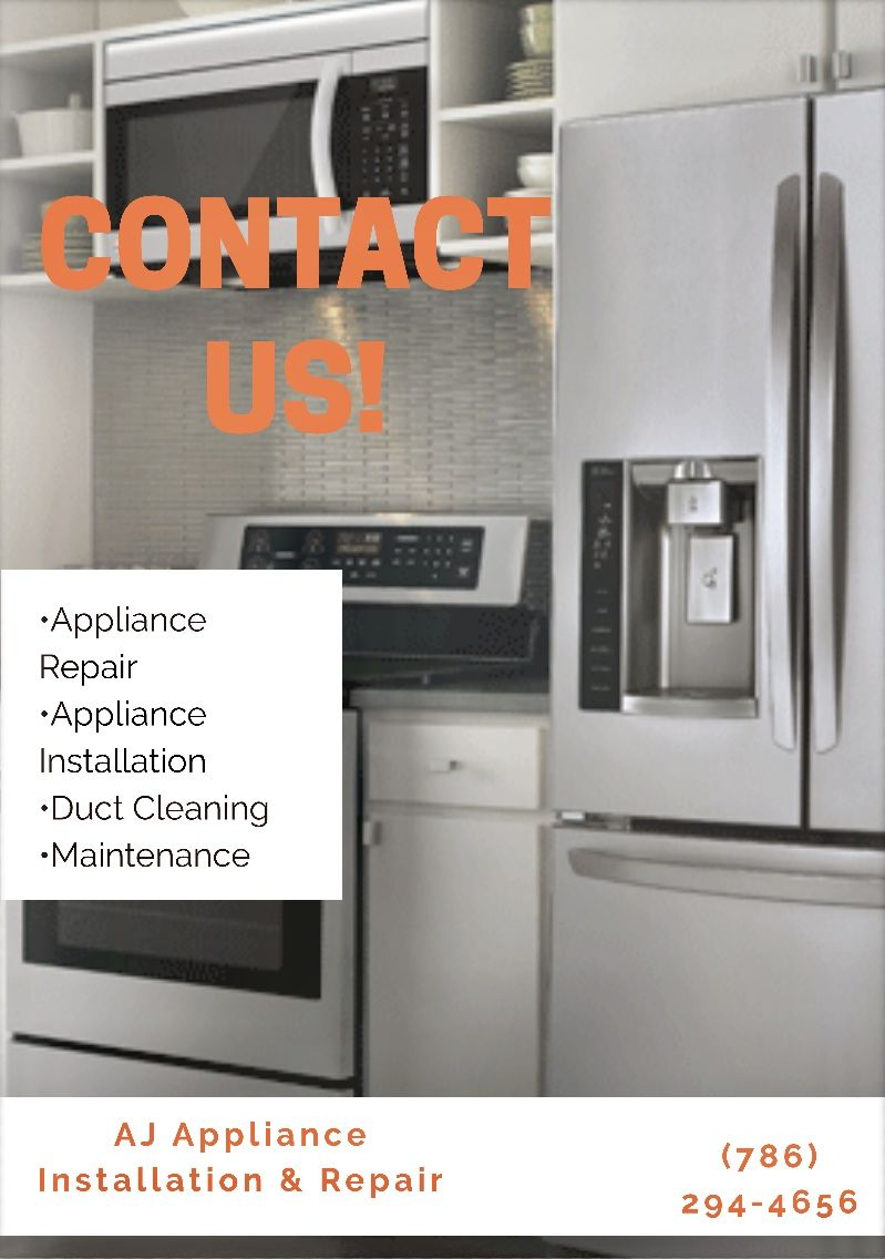 Idea By Roxana Garcia On A J Appliance Repair And Installation