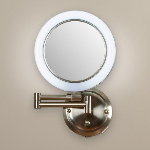 Found It At Wayfair Howell Dimmable Wall Mirror In Satin Nickel Shaving Mirror Mirror Contemporary Mirror