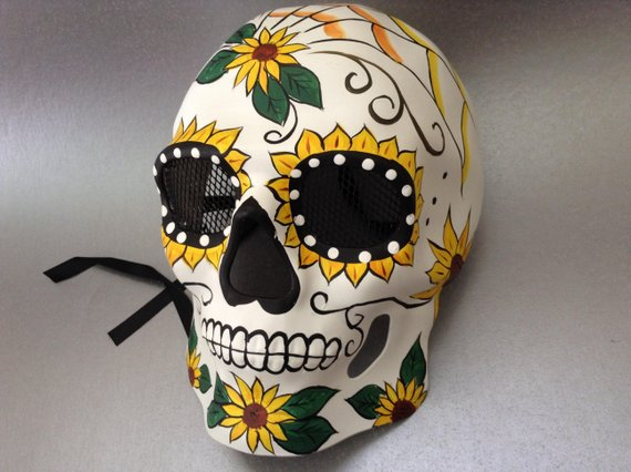 Sugar Skull Mask Halloween Masquerade Party Day of the Dead D de Muertos Mask