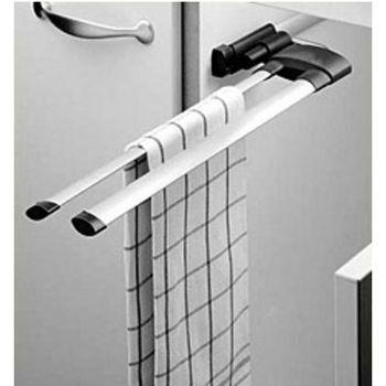 Towel Racks - Hafele 2 Bar or 3 Bar Extendable Towel Racks for Kitchen or Vanity Cabinet | KitchenSource.com