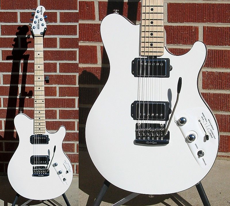 ernie ball music man reflex electric guitar white maple fretboard audible vibrations. Black Bedroom Furniture Sets. Home Design Ideas