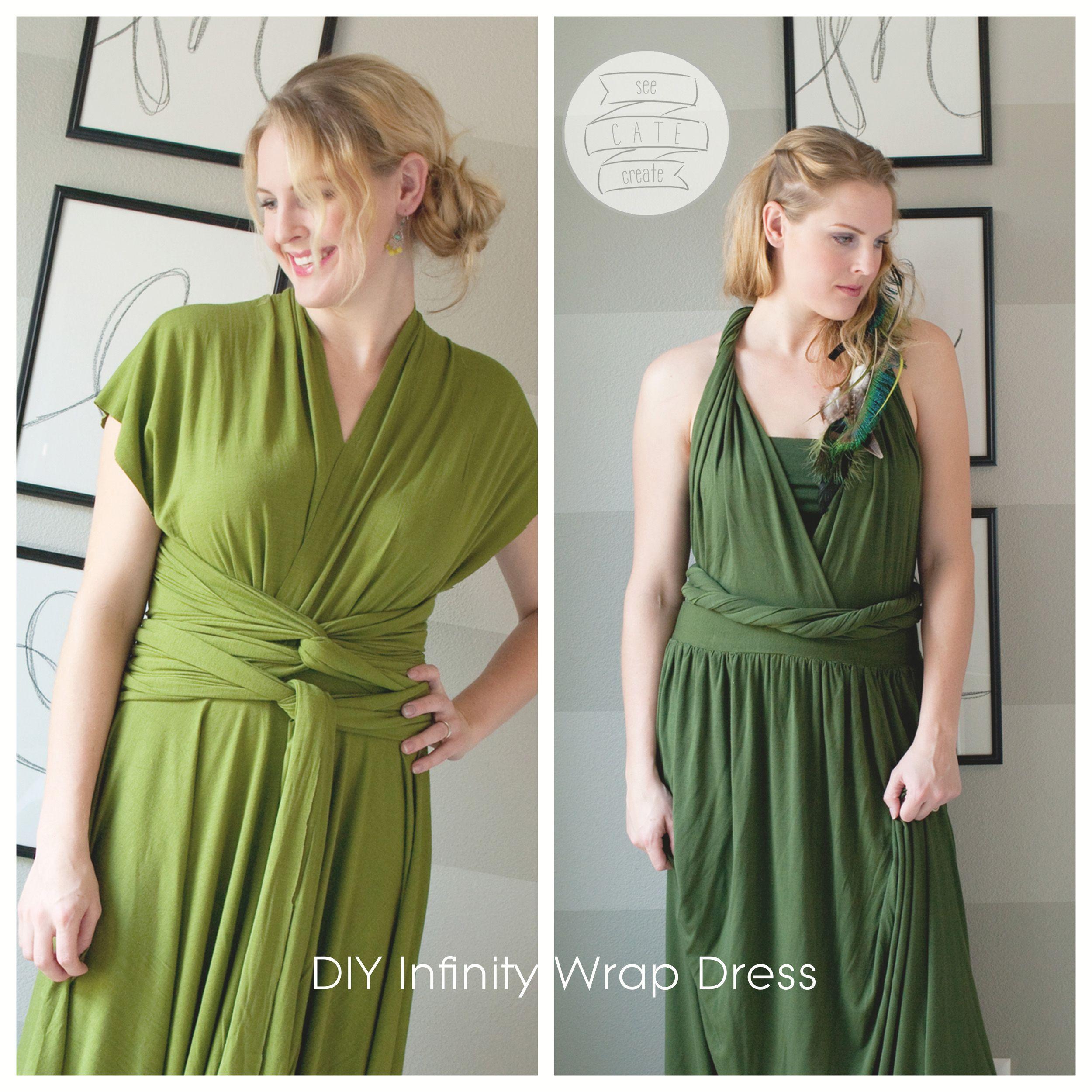 Infinity Dress, Wickelkleid nähen - viele Tragevarianten möglich ...