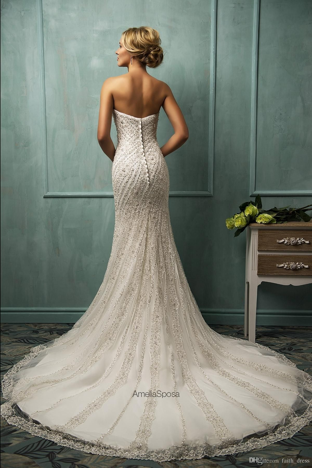 tight fitting wedding gowns